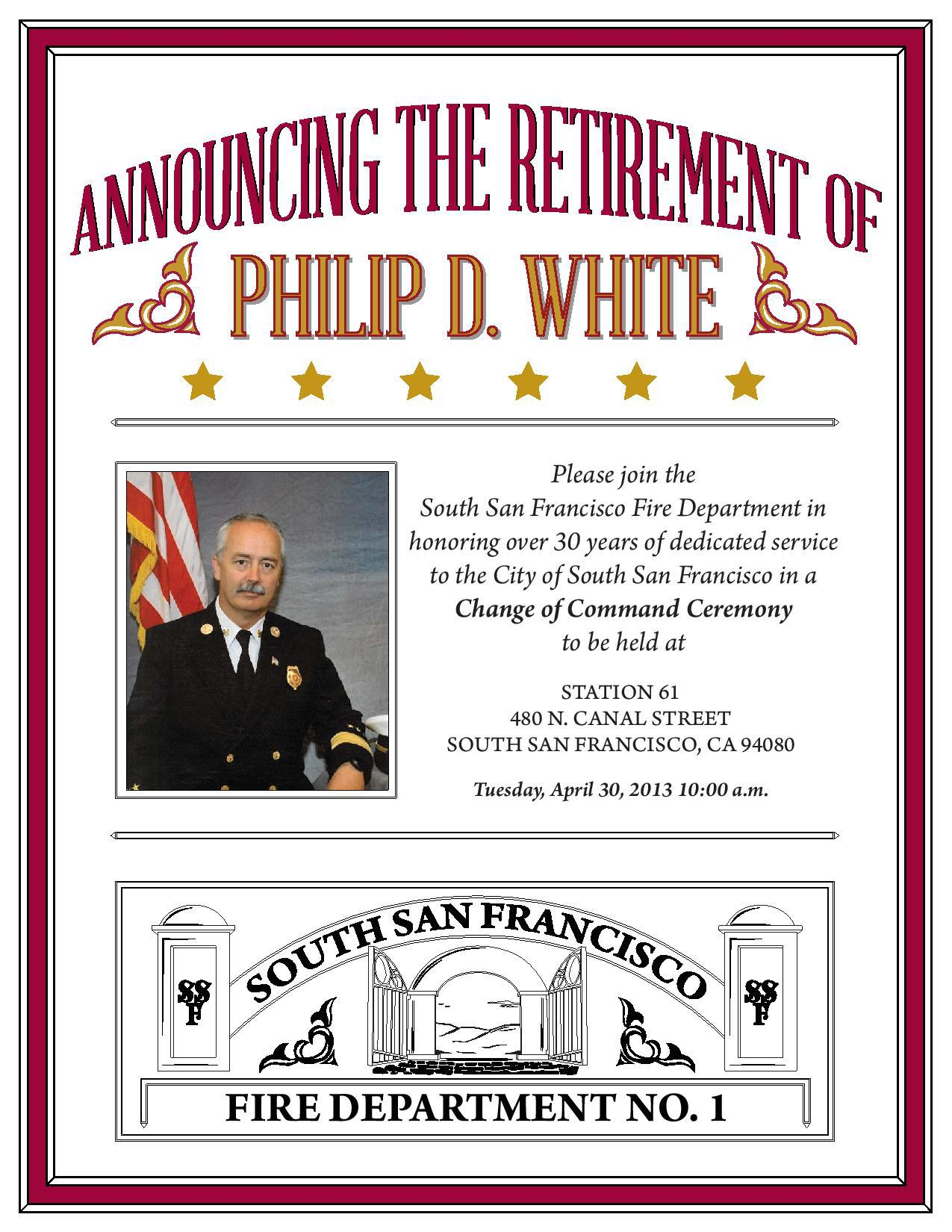 Fire Chief Phil White to be honored as he retires