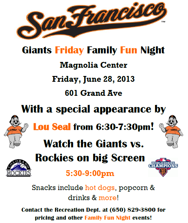 Family Night – GIANTS vs ROCKIES RSVP