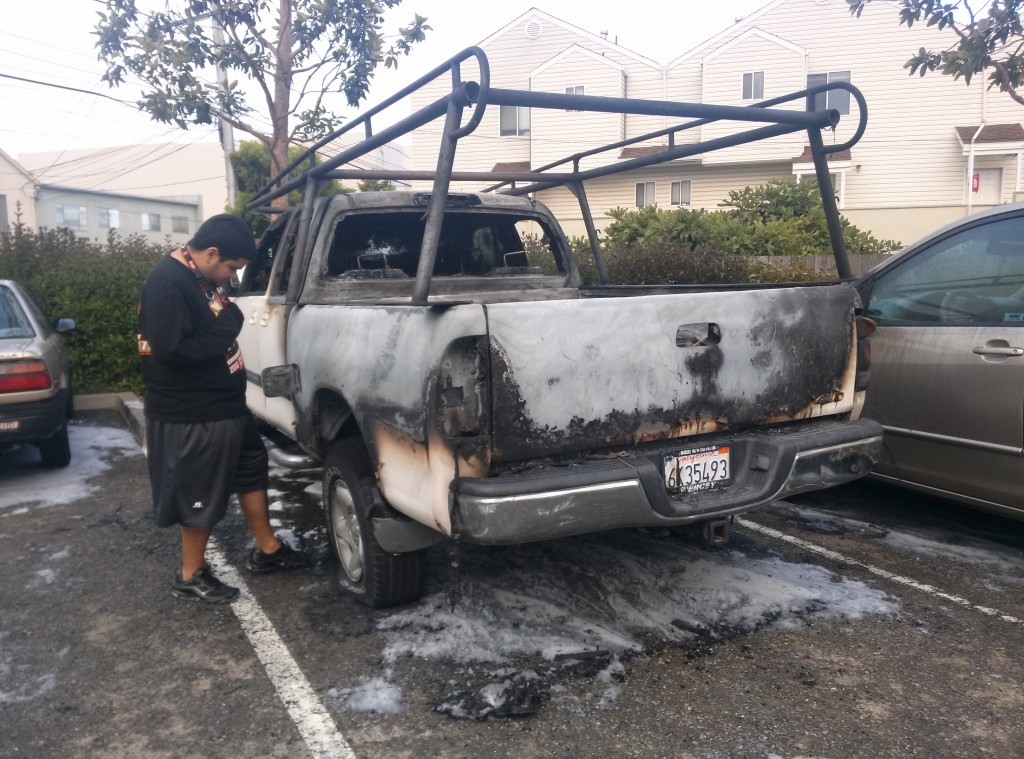 Sunday Vehicle Fires on Baden