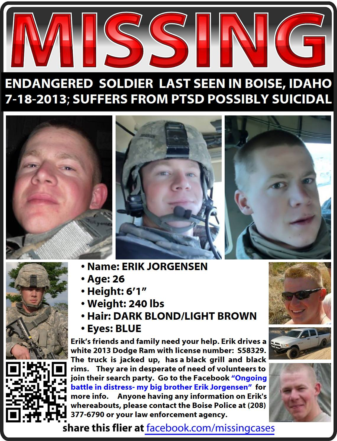 Local Soldier Missing In Idaho