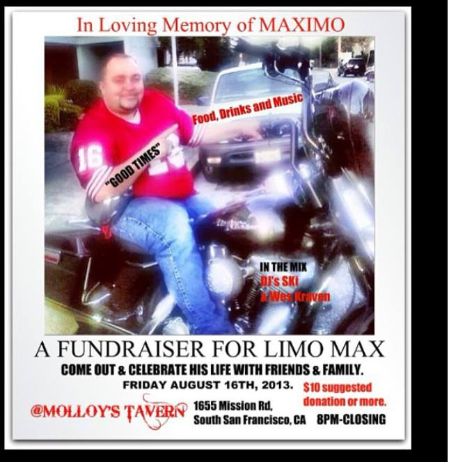 Celebration of Life for Maximo tonight at Molloy's