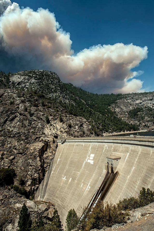 Rim Fire above the Dam at  Hetch Hetchy  Photo Al Golub