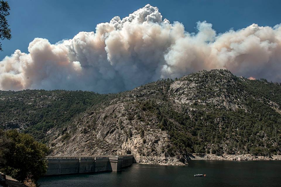 Rim Fire over Hetch Hetchy