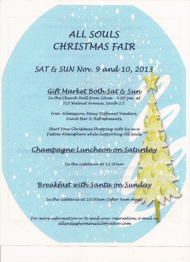 All Souls Women's Club Christmas Fair and Gift Market