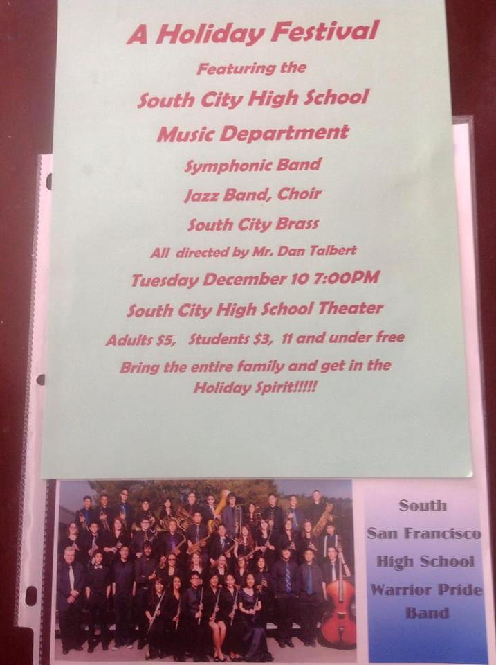 ANNUAL HOLIDAY FESTIVAL Presented by SSFHS Music Department