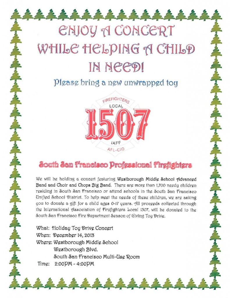 Westborough Middle School Students Host Musical Program To Help Local TOY DRIVE