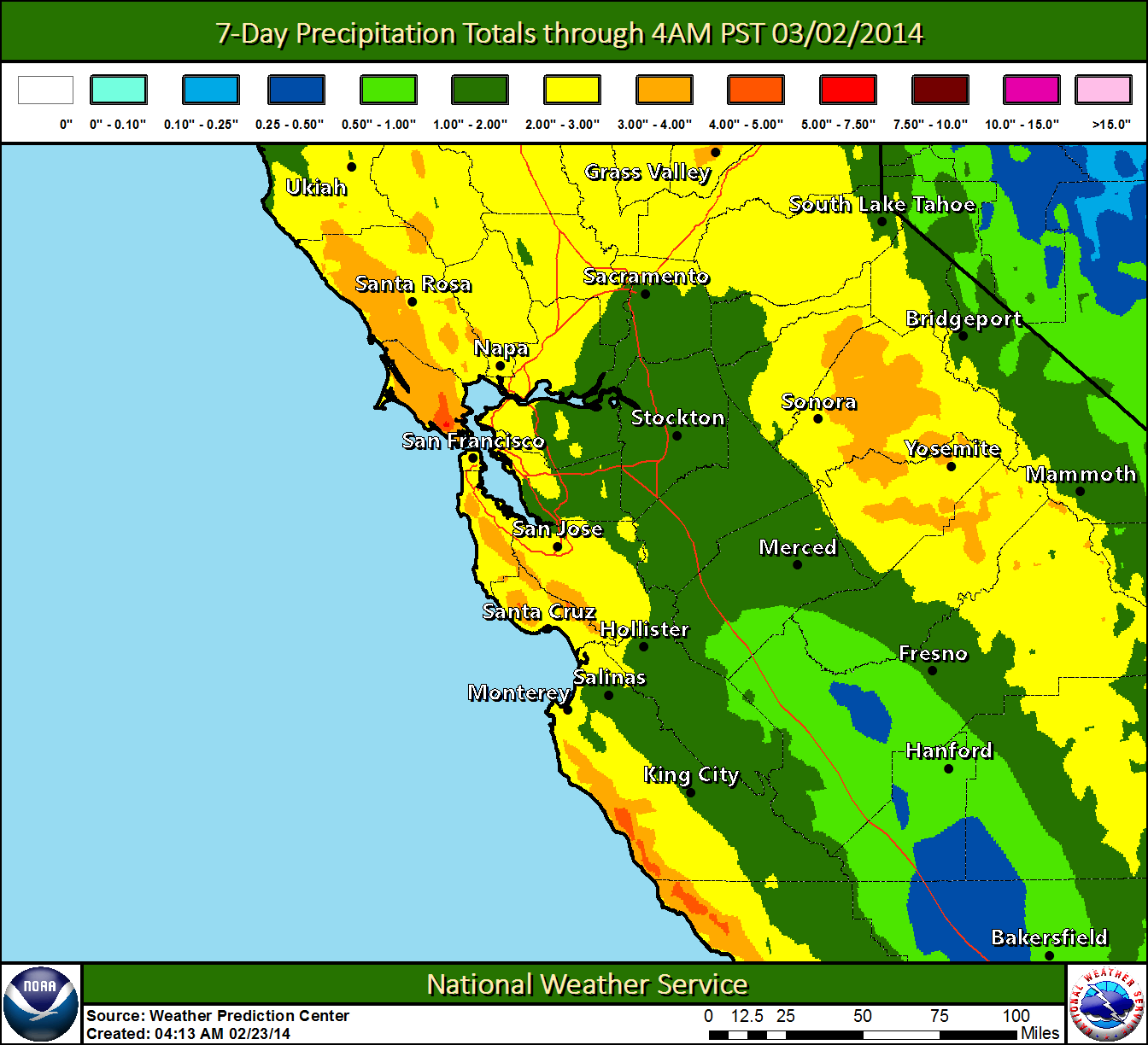 NWS Monterey Briefing: Significant Rain & Wind with Storms on Wed & Sat