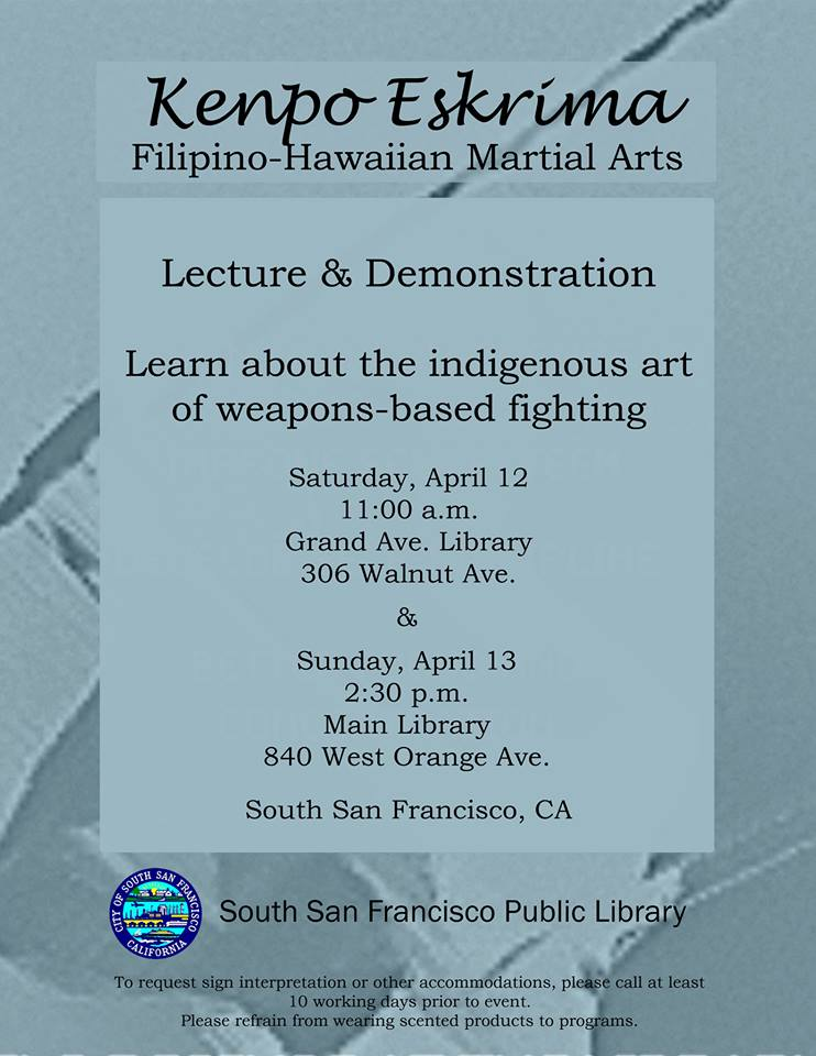 Indigenous Art of Weapons Based Fighting – FREE Demo & Lecture