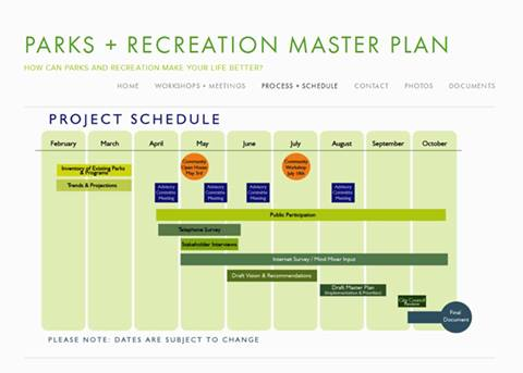 Parks & Recreation Master Plan Open House at Orange Park May 3rd