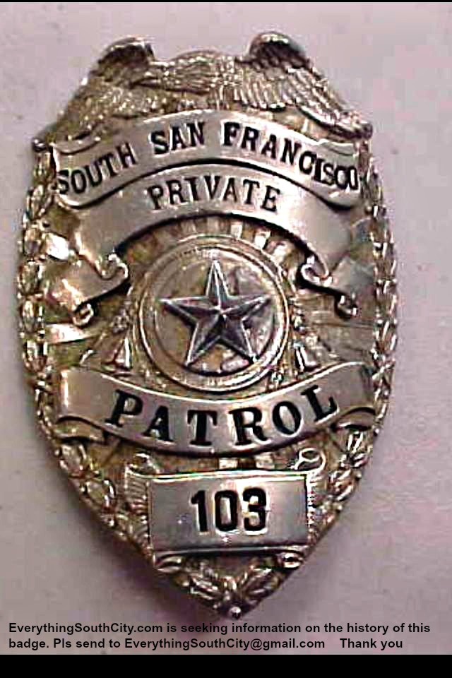 History of SSFPD Badge 103 Sought by ESC