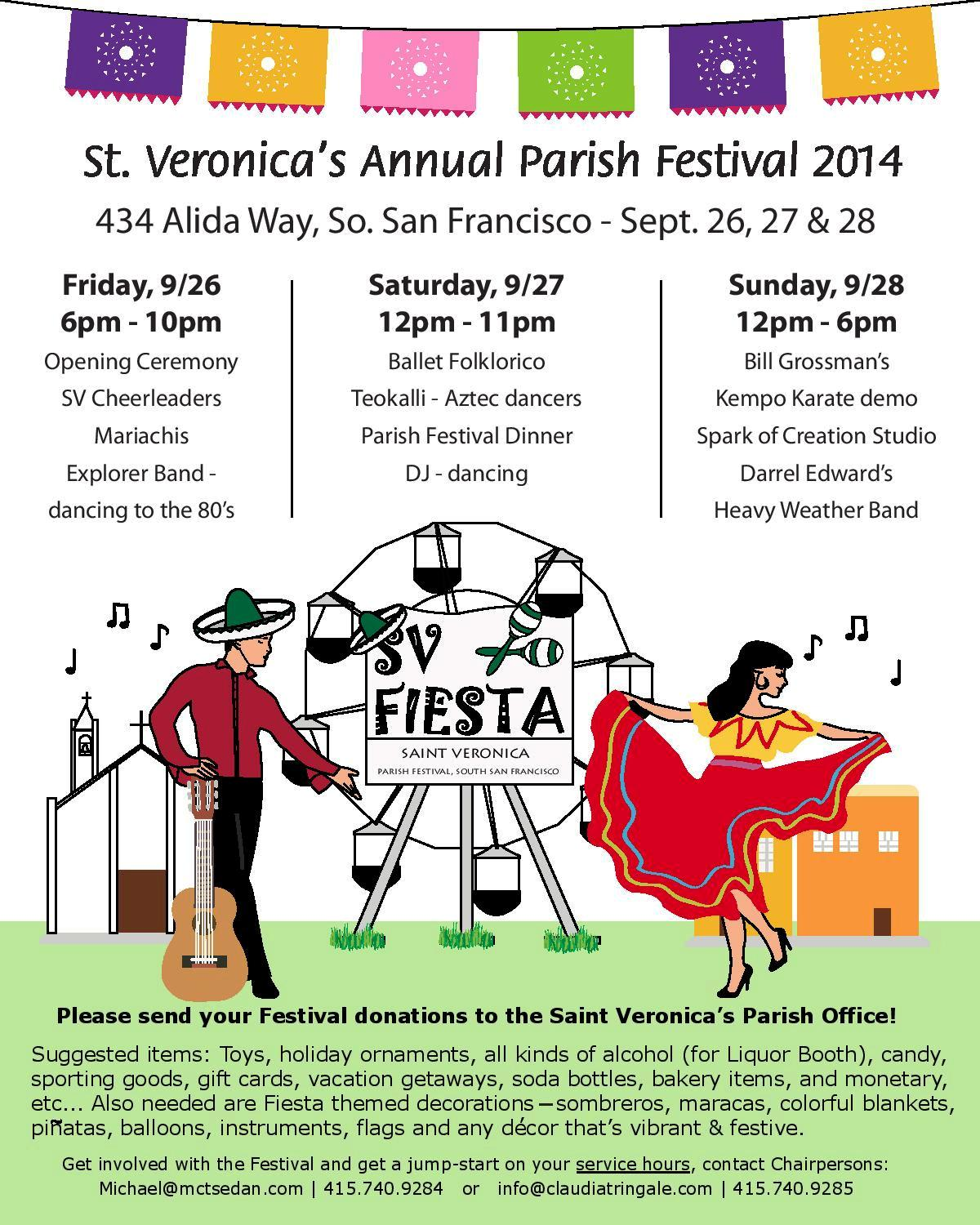 St. Veronica's Festival Next Weekend Sept 26, 27 & 28