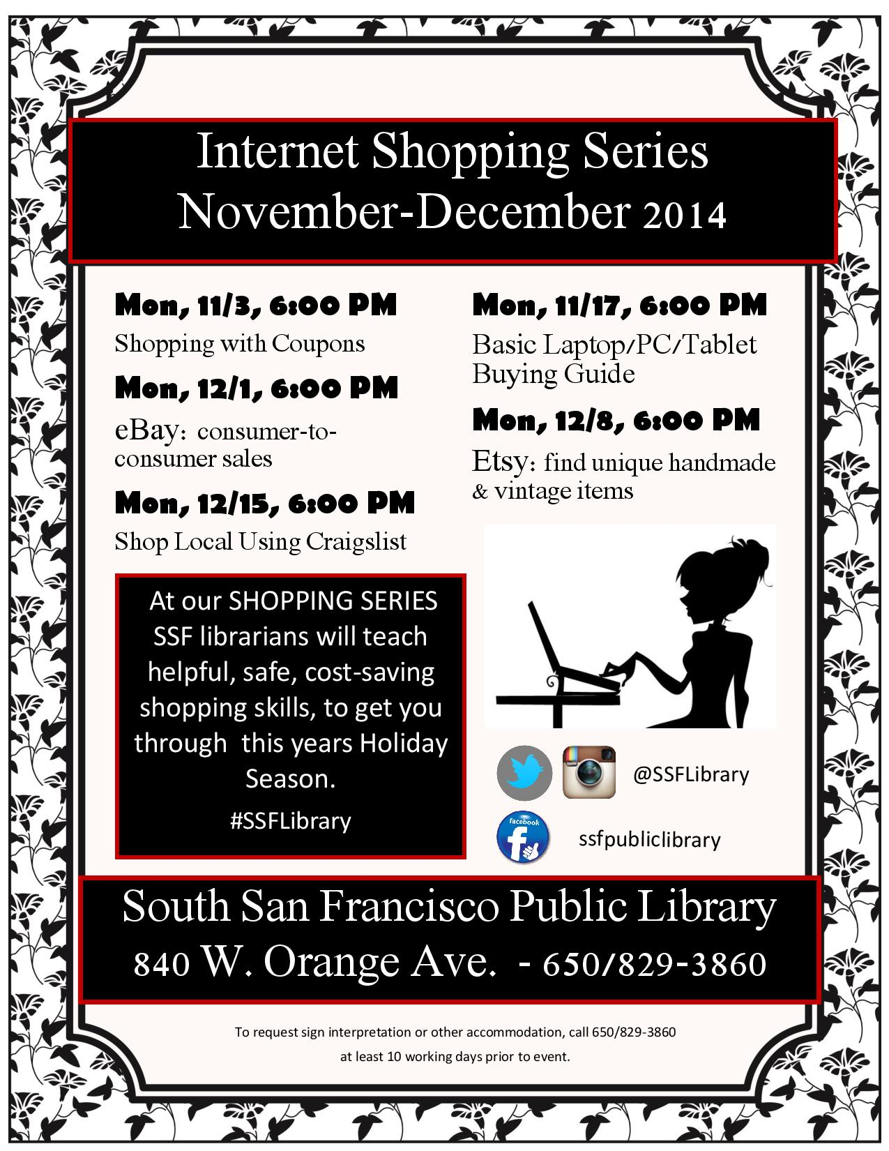 SSF Library Presents:  Holiday Shopping Series: eBay: Buying and Selling