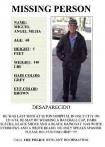 Elderly man missing from Seton area in Daly City- please share
