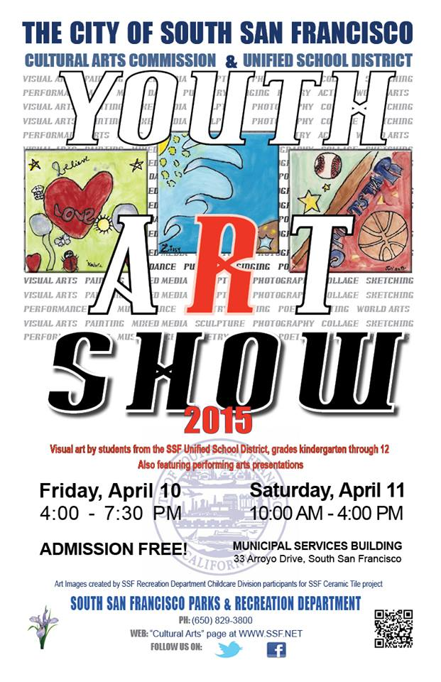 Youth Art Show April 10th and 11th at the MSB