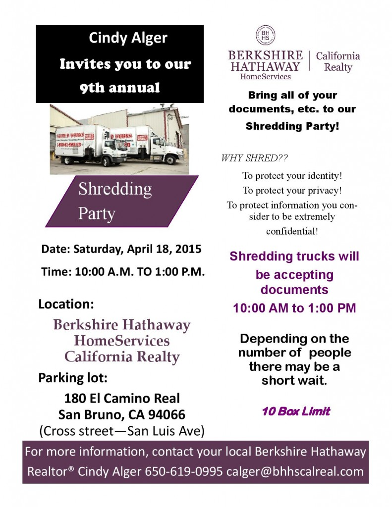 Shredding Party at Berkshire Hathaway in San Bruno by Cindy Alger