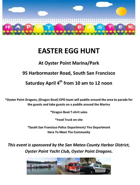 Oyster Point Marina: Easter Egg Hunt on April 4, 2015