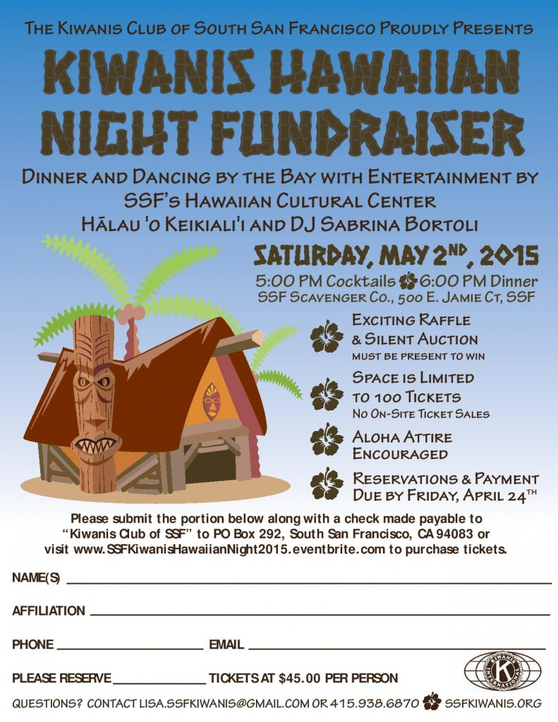 Kiwanis Club of SSF Hawaiian Night Fundraiser