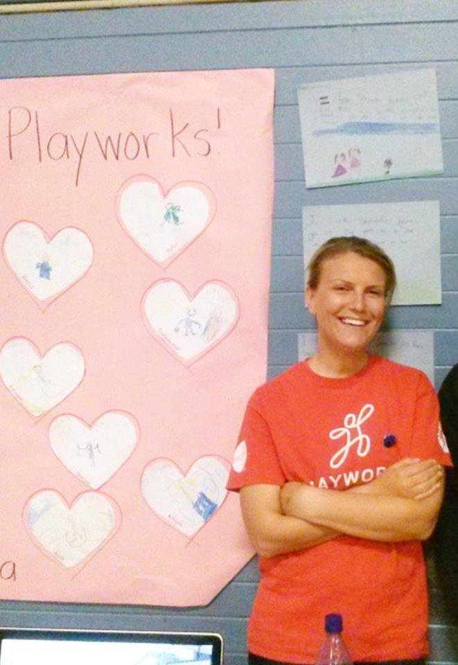 Recognizing Spruce School PlayWorks Coach Lisa Hickey
