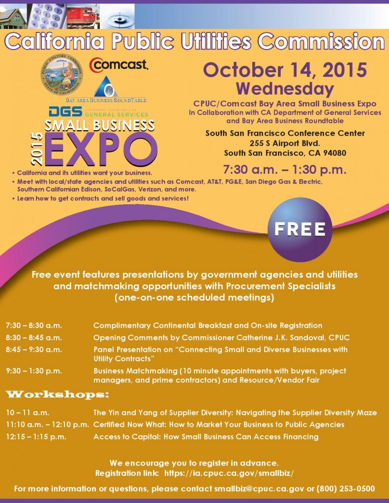 Bay Area Small Business Expo Slated for October 14 at SSF Conference Center