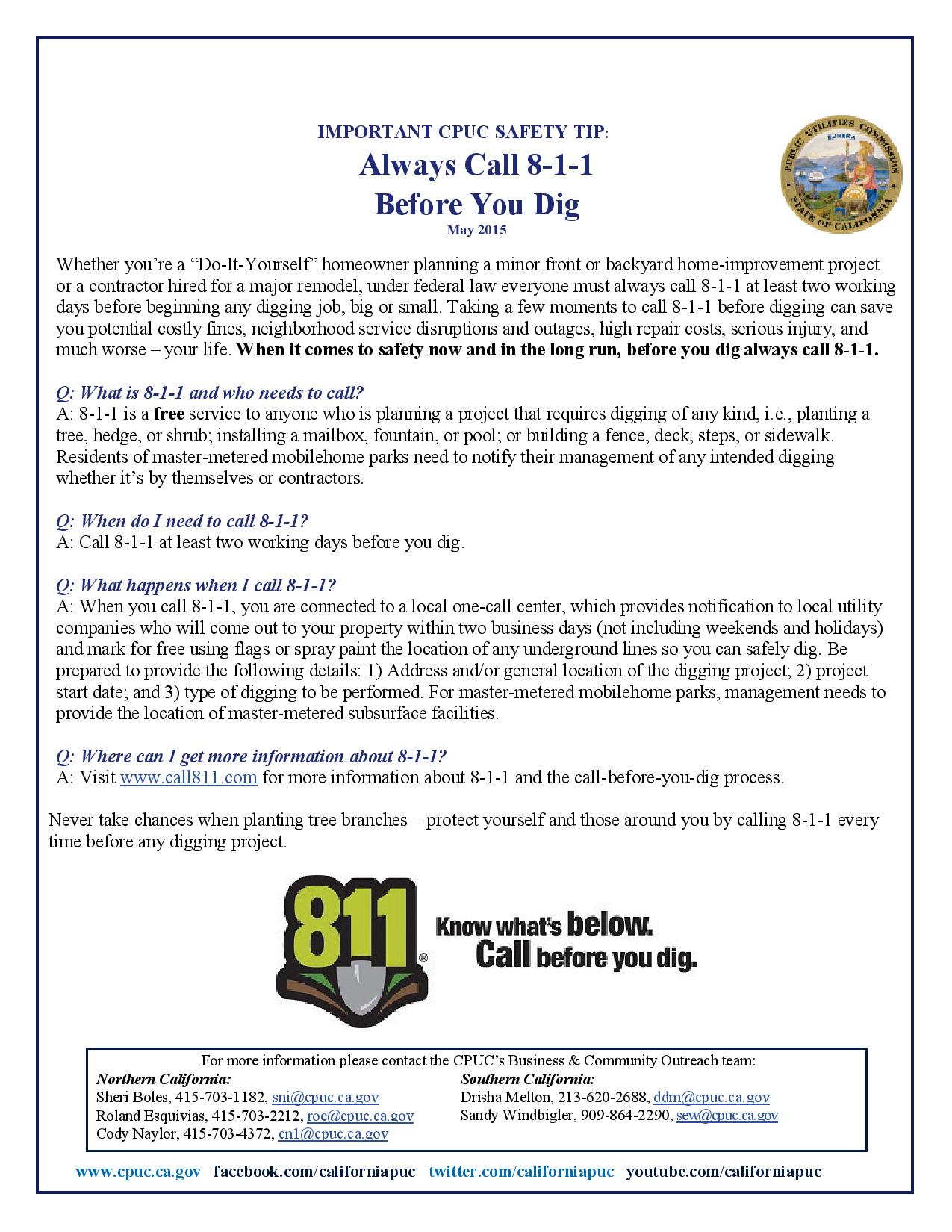 how to call 811 from ontario
