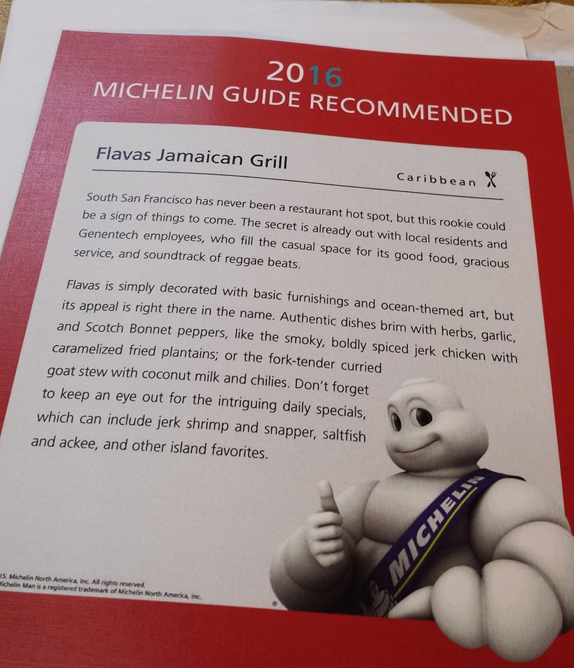 Flavas Jamaican Grill Voted 2016 Michelin Recommended Restaurant