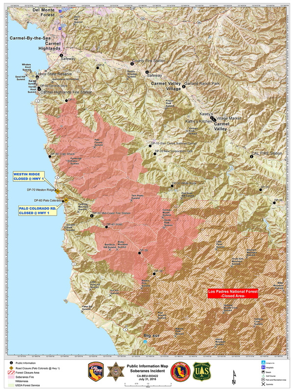 South San Francisco Firefighters Respond to Soberanes Fire