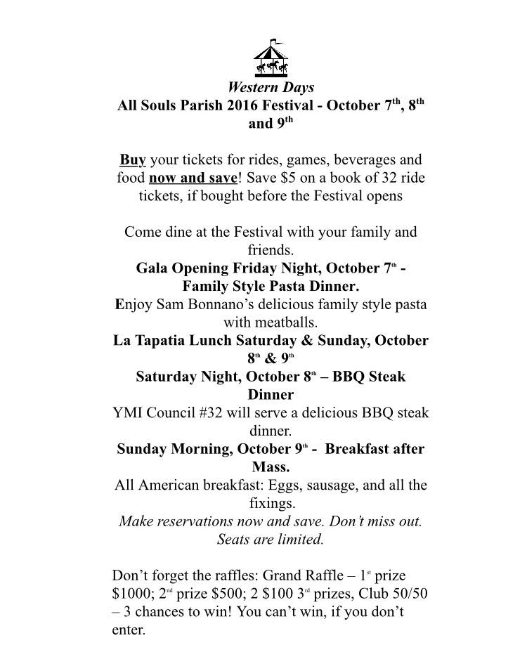 All Souls Festival Set for October 7, 8, 9th – Discount Tickets on Sale NOW!