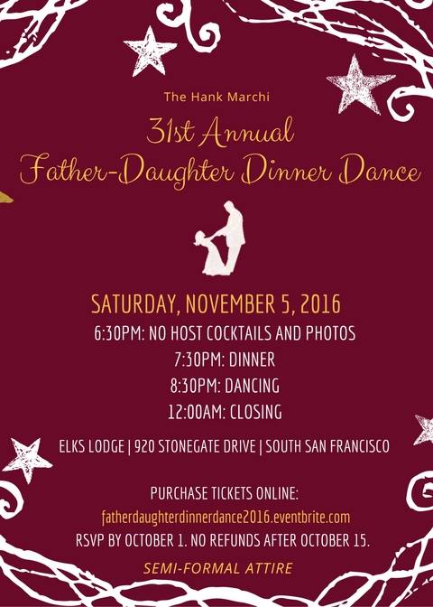 Hank Marchi's 31st Annual Father-Daughter Dinner Dance Set for November 5th