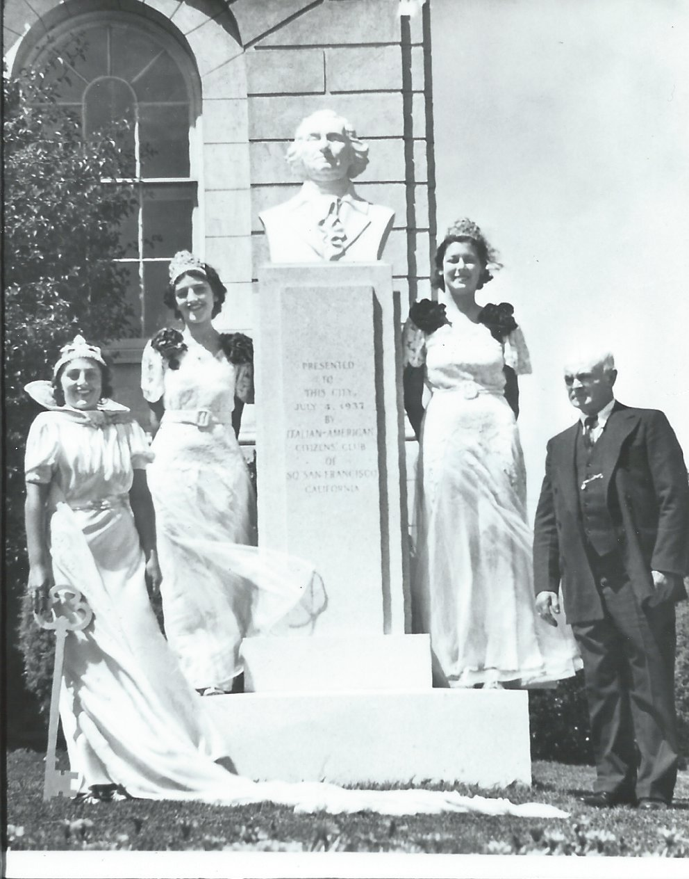 SSF Italian American Citizens Club to Rededicate Washington Bust at City Hall on October 23rd