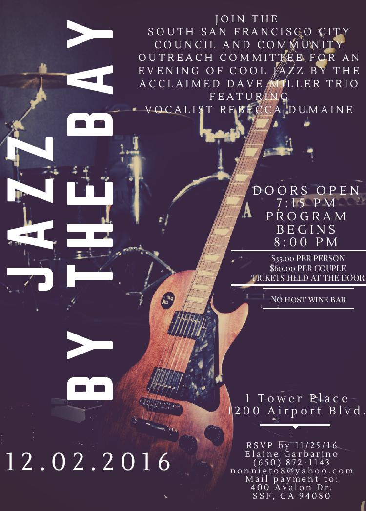 Jazz by the Bay Fundraiser on Friday, December 2nd