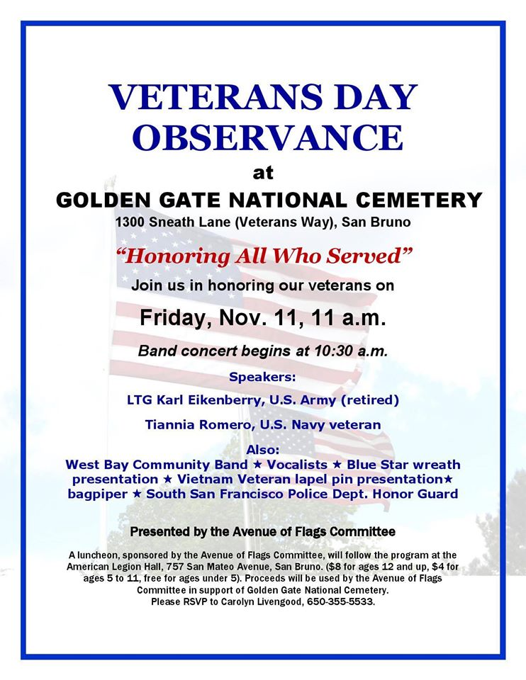 Veterans Day Observance at Golden Gate National Cemetery