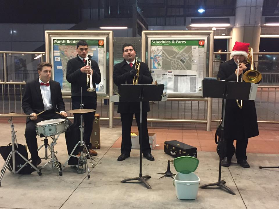 Music Makers Brighten Holiday Travel at SSF BART
