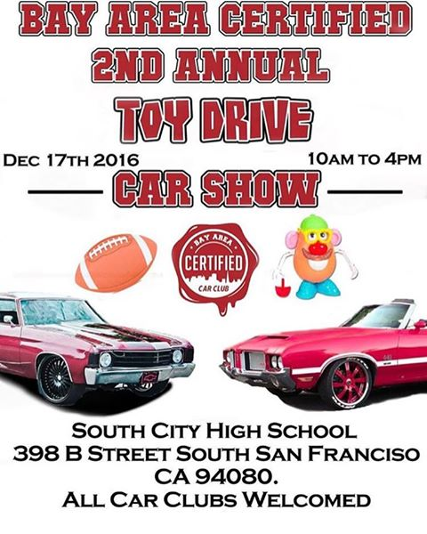 Bay Area Certified Car Club To Host Event At SSFHS December Th - Bay area car shows this weekend