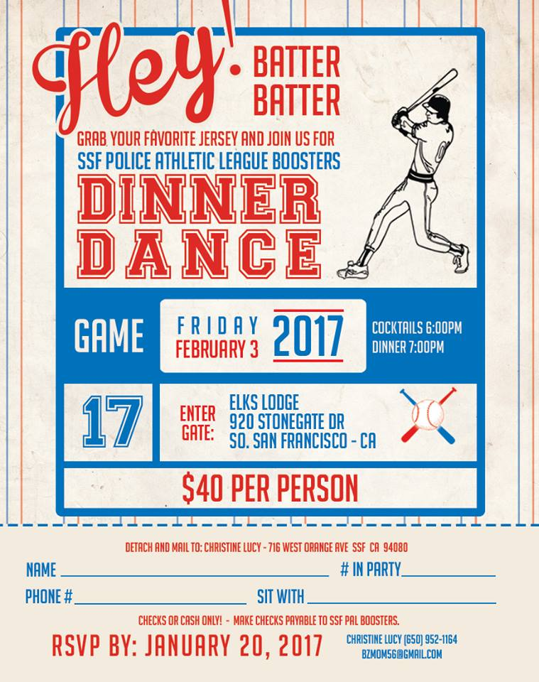 SSF PAL Dinner Dance Slated for February 3rd