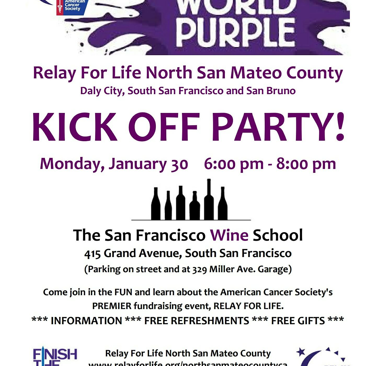 American Cancer Society Relay For Life: American Cancer Society Relay For Life Kick Off Event