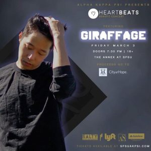 SFSU Alpha Kappa Psi Presents HeartBeats Benefit Concert With GIRAFFAGE March 3rd at the Annex