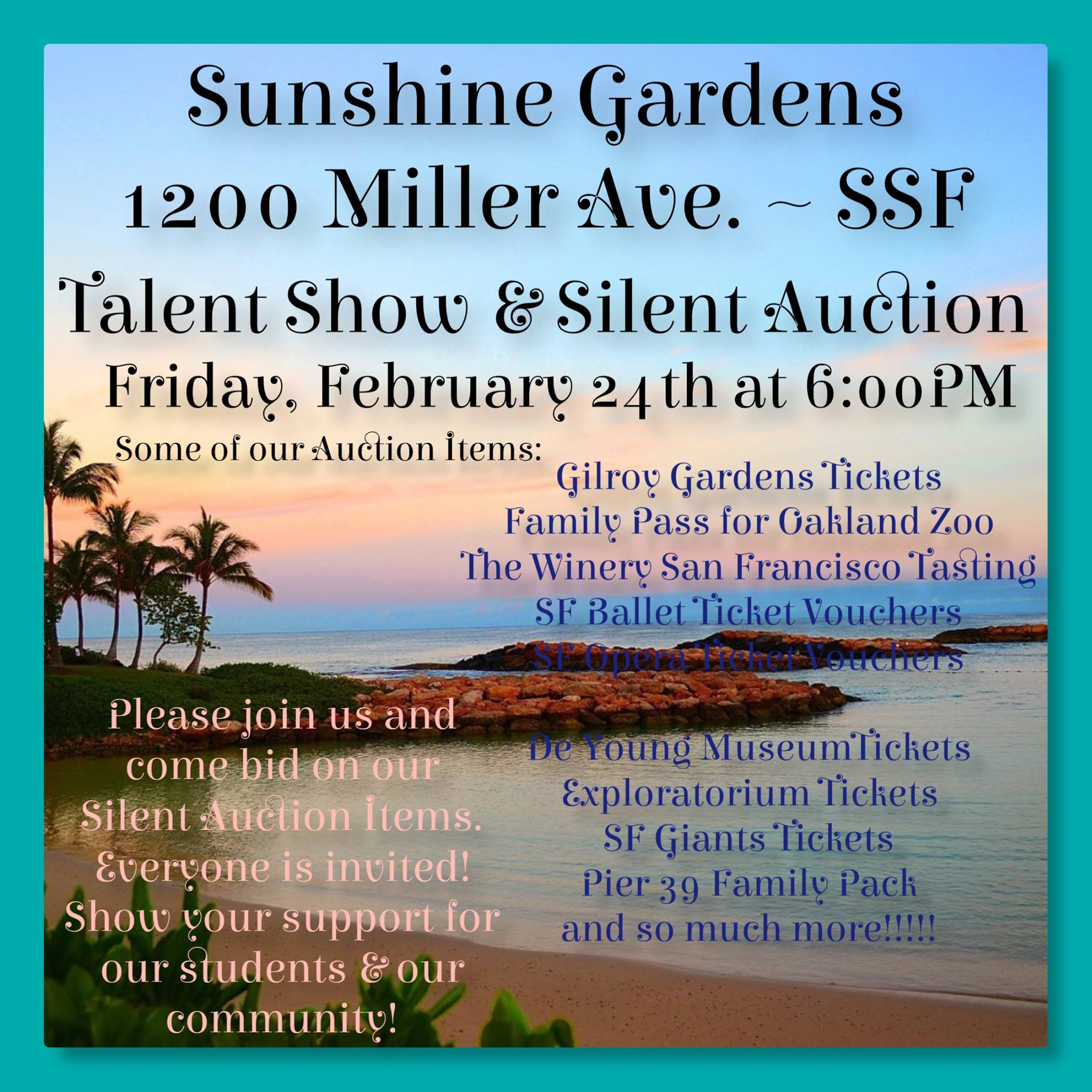 Sunshine Elementary School to Host Talent Show, Silent Auction