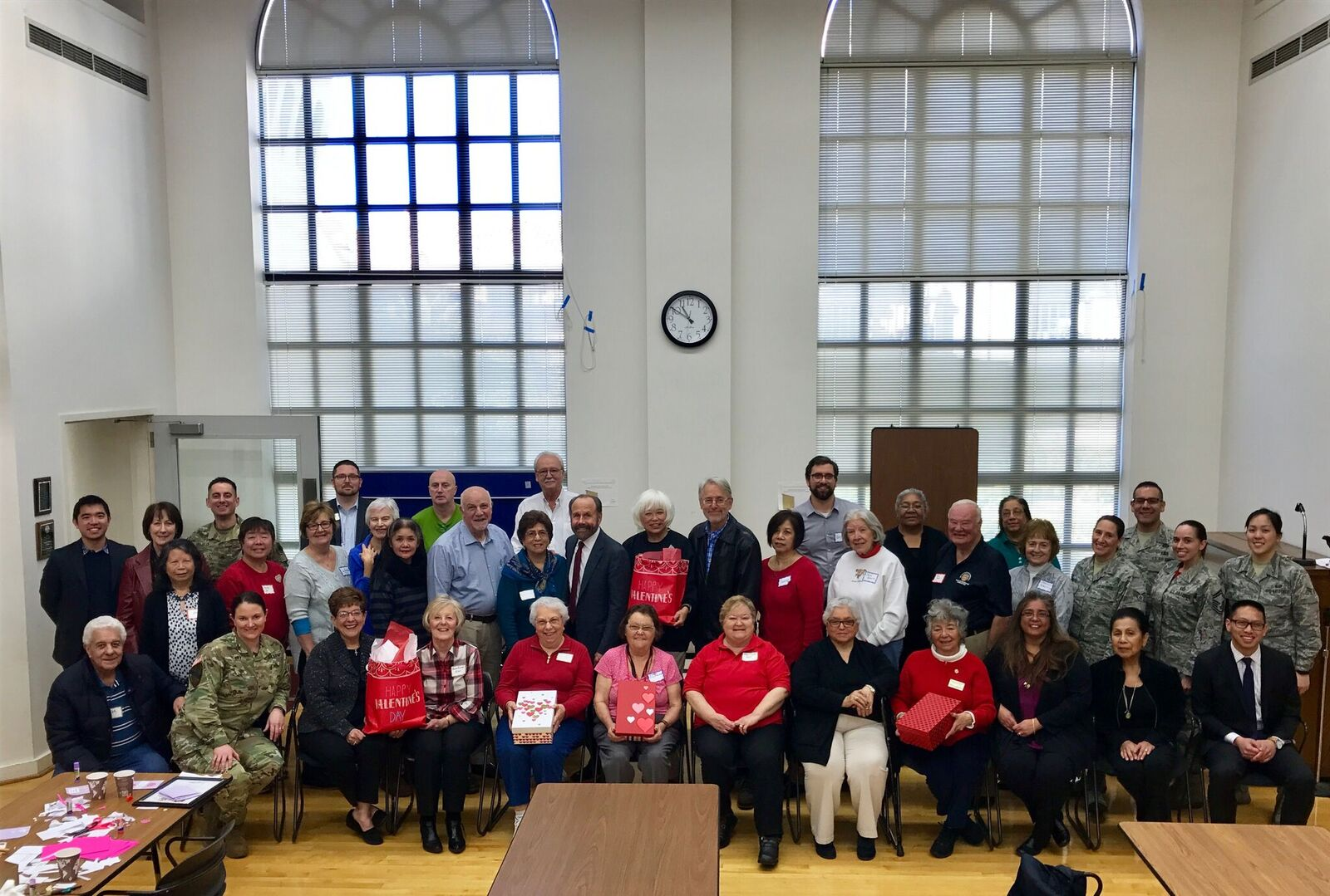 SSF Senior Citizens' 'Operation Valentine' Sends 1,400 Handmade Cards to California Servicemen and Women