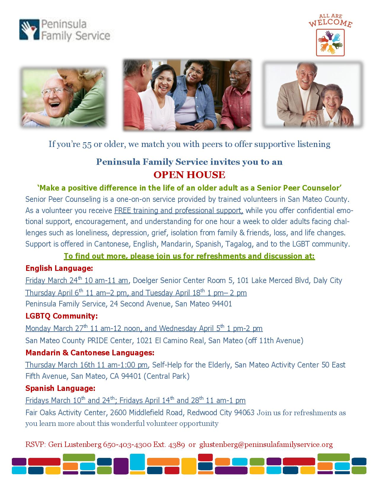 Peninsula Family Service invites you to an OPEN HOUSE