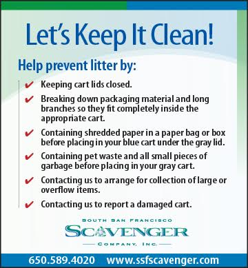 A Friendly Reminder From our SSF Scavengers: Let's Keep Our City Clean!