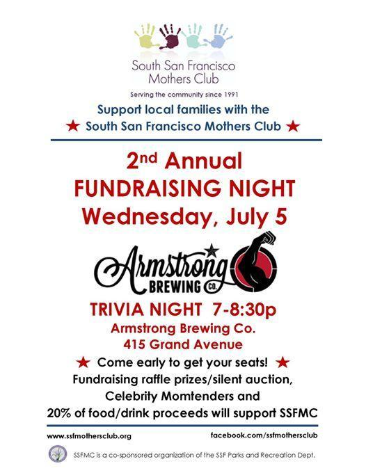 South San Francisco's Mother's Club 2nd Annual Trivia Night Fundraiser to be Hosted at Armstrong Brewery