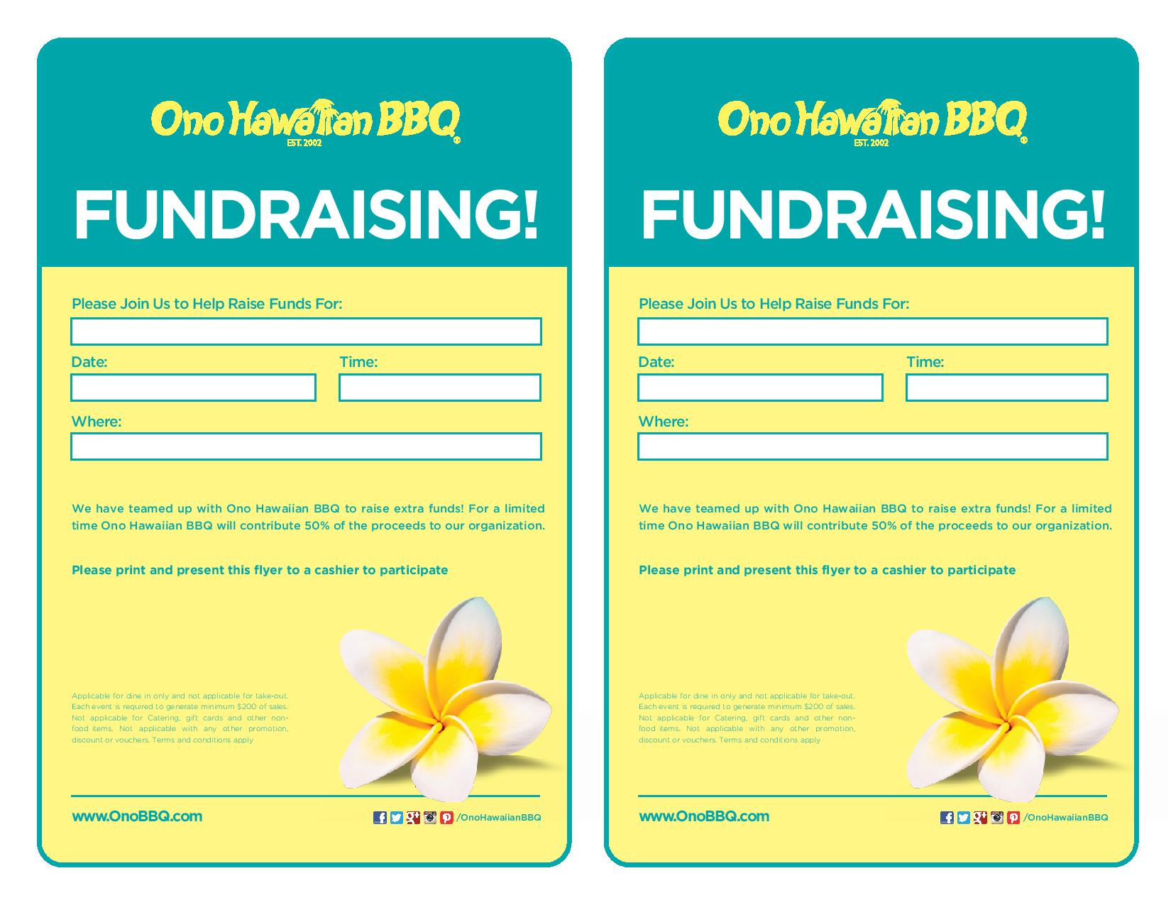 Buri Buri PTA Announces Art-In-Action Program Fundraiser September 12th at Ono Hawaiian BBQ