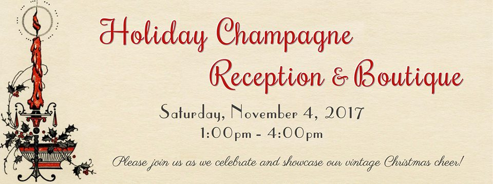 SSF Historical Society Announces 2017 Holiday Champagne Reception and Boutique Set for November 4th