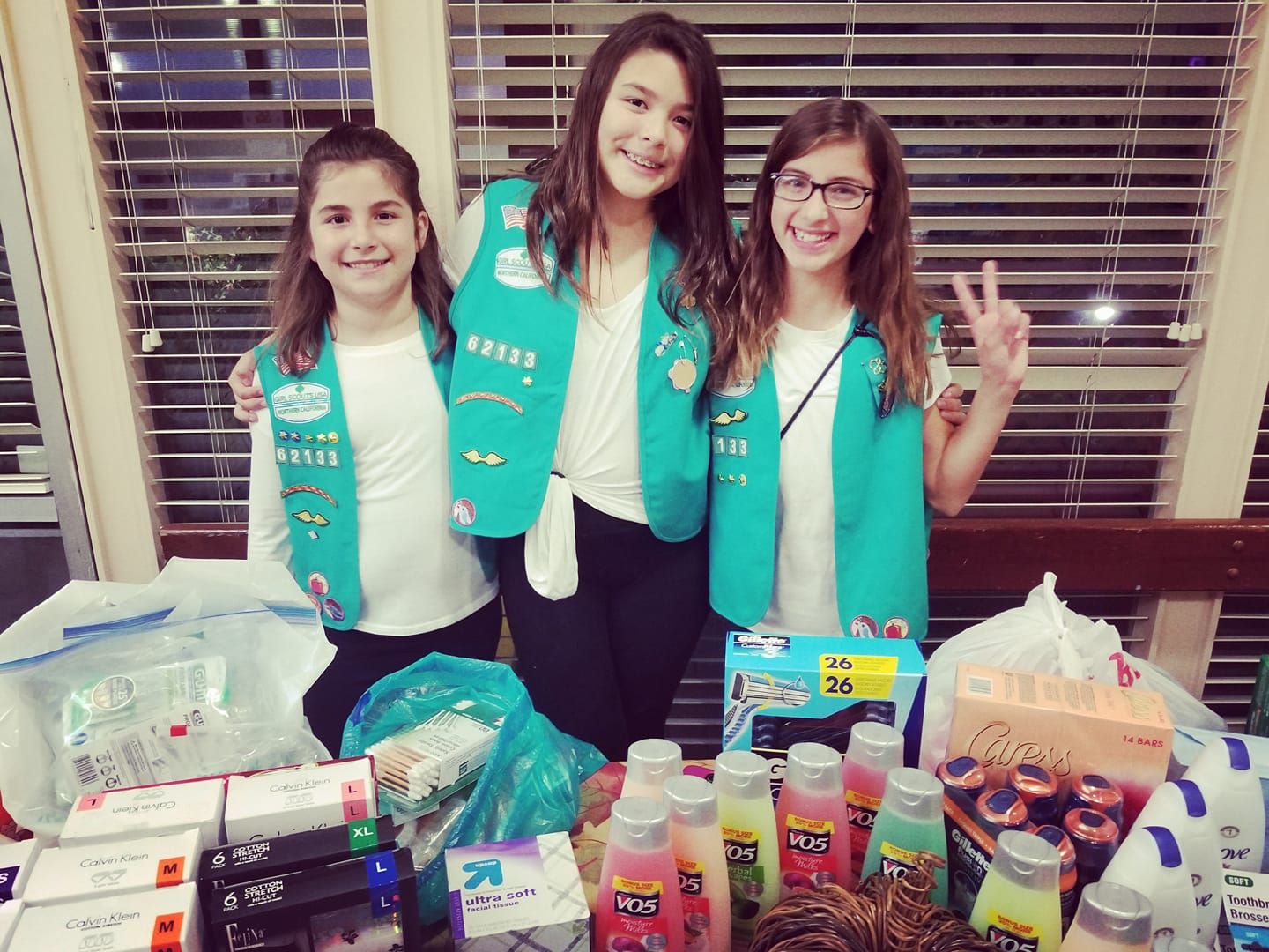 Elks Support SSF Girl Scouts Troop 62133 Donation Drive for Napa Fire Victims