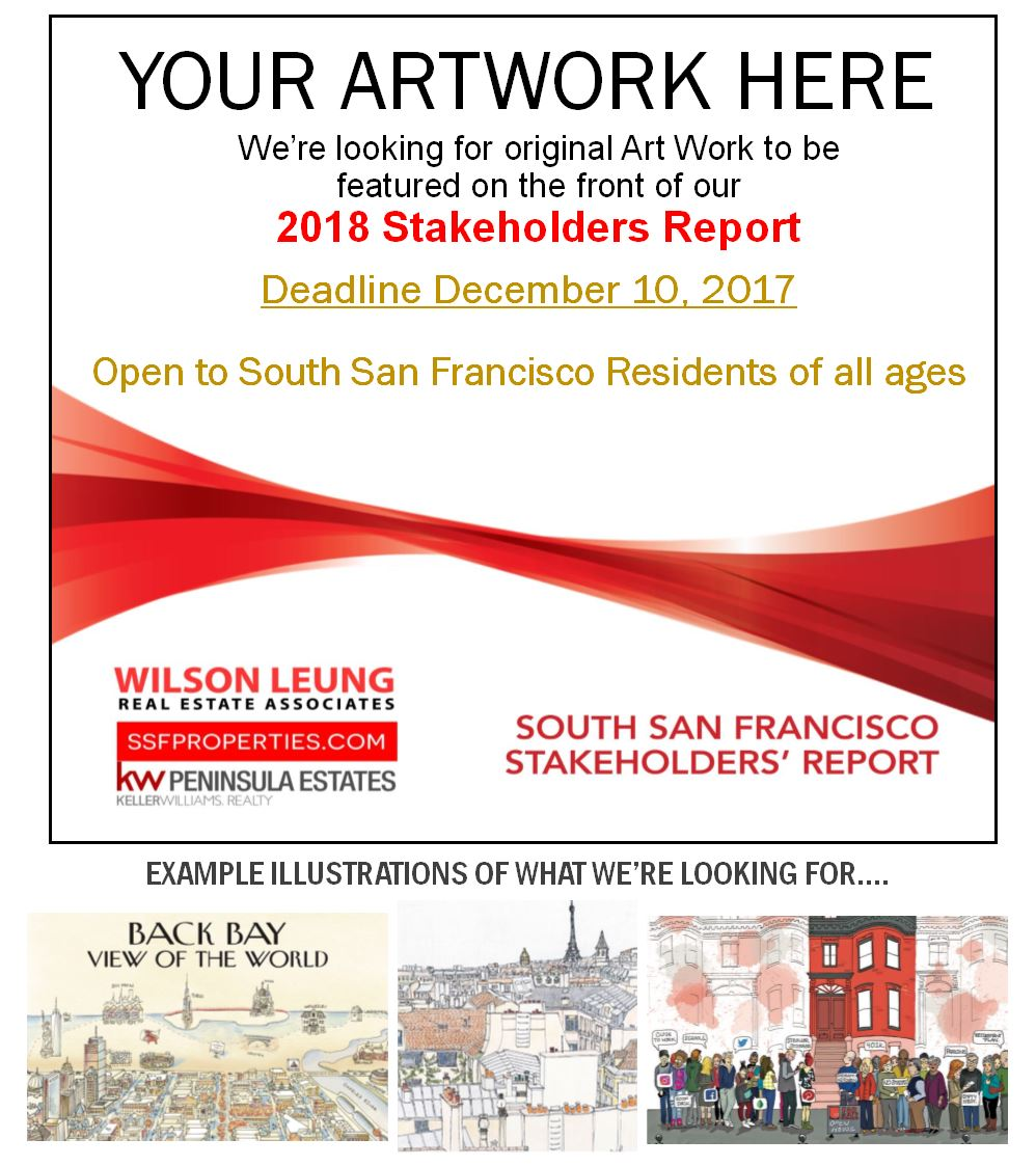 Art Contest Sponsored by Wilson Leung Real Estate Associates Opens to All South San Francisco Residents