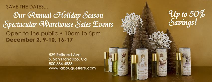 La Bouquetière's Annual Holiday Atelier Sale Events December 9, 10, 16, and 17th in South San Francisco
