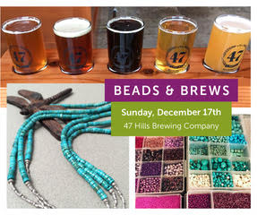 Beads & Brews – Holiday Jewelry Making Event December 17th at 47 Hills Brewery with Dragonfly Designs