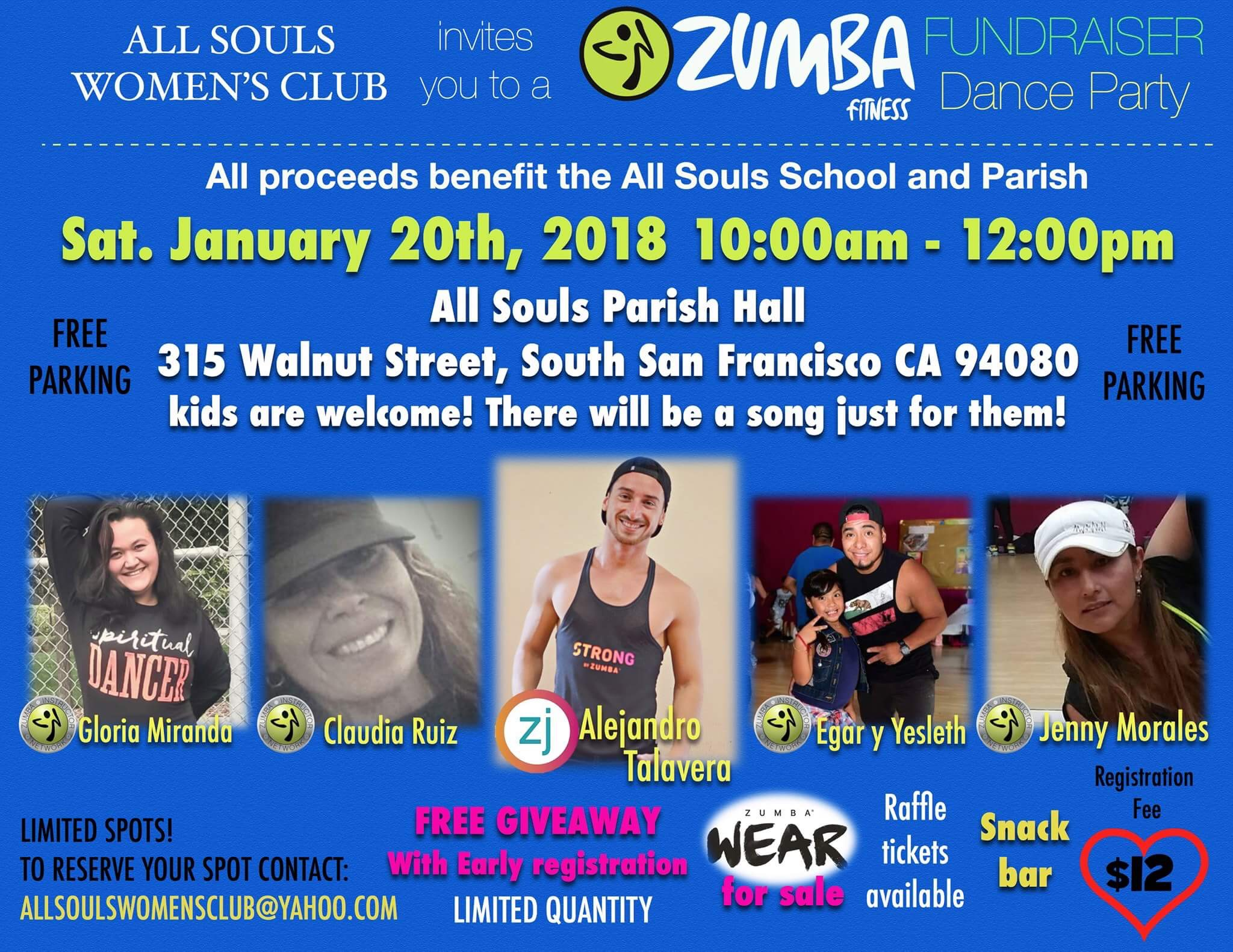 All Souls Women's Club Zumba Fundraiser Set For Saturday January 20th