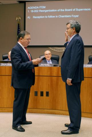 San Mateo County Board of Supervisors Reorganizes, Chooses Pine as President