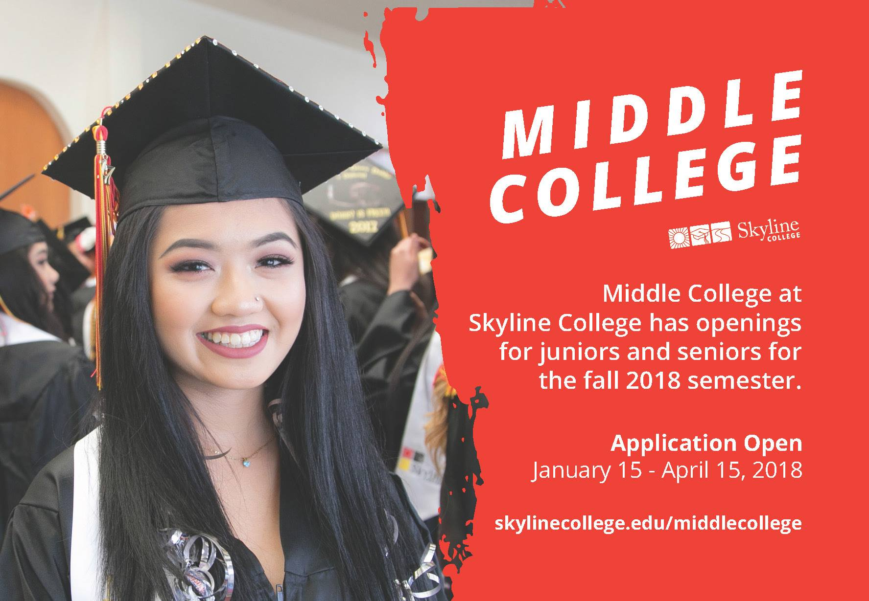 Middle College at Skyline College Accepting 2018-2019 Applications Now